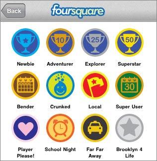 foursquareバッジ