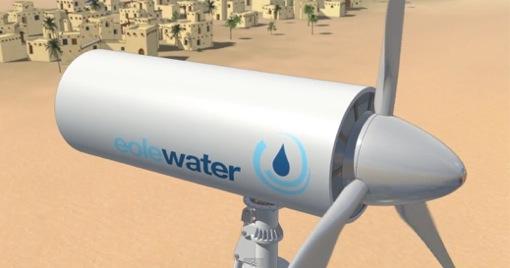 砂漠でキレイな飲料水を作り出す風車