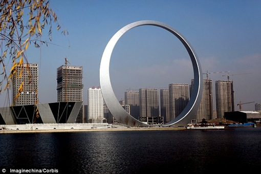 China is building The Ring of Life a new landmark in the northeast of the country that defies the notion that size doesnt matter