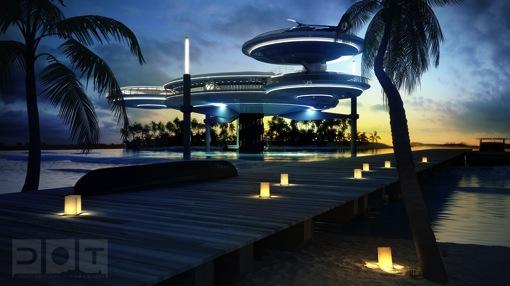 近未来の円盤型水中ホテル!海洋...